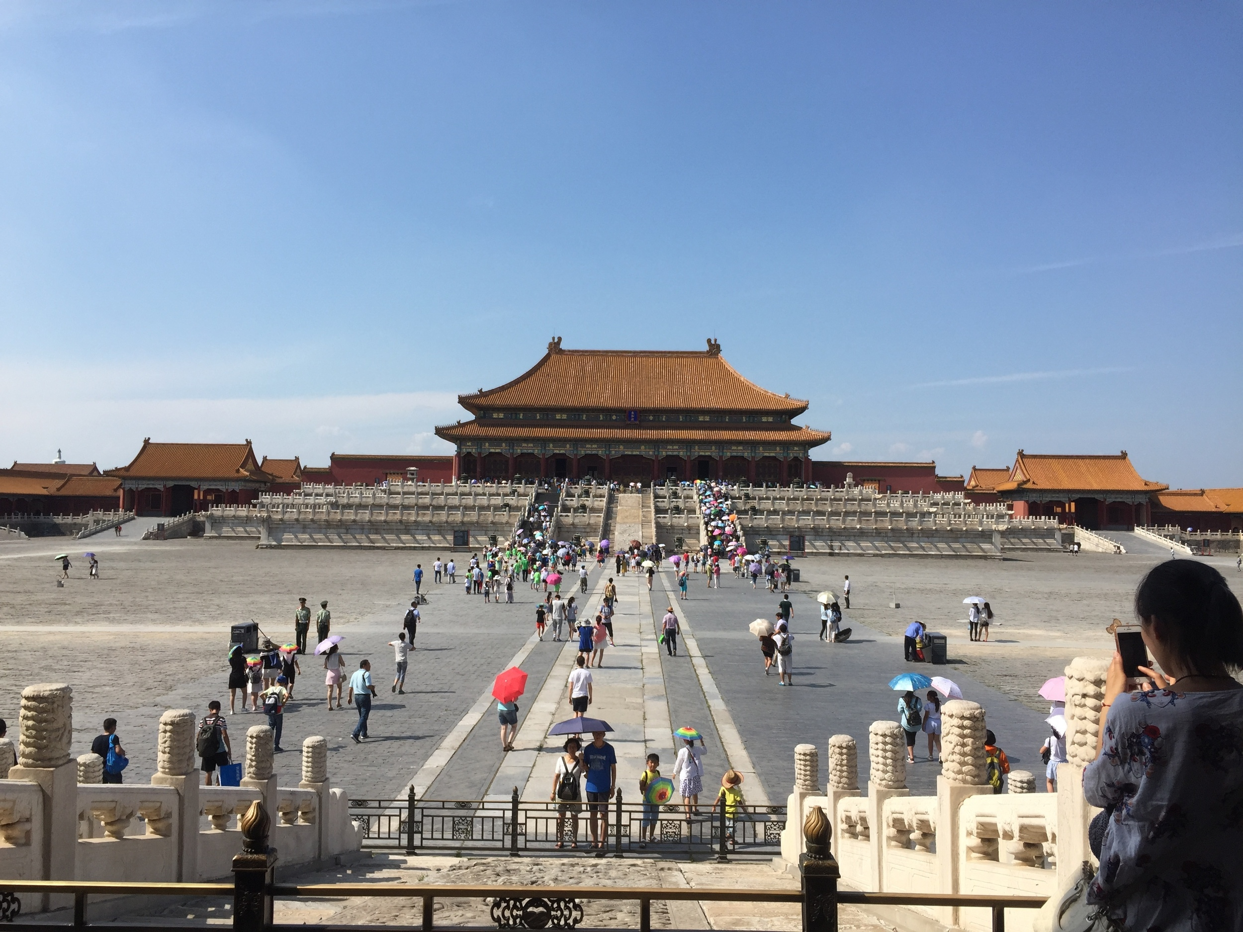 One of the many majestic views on offer to tourists in Beijing's Forbidden City
