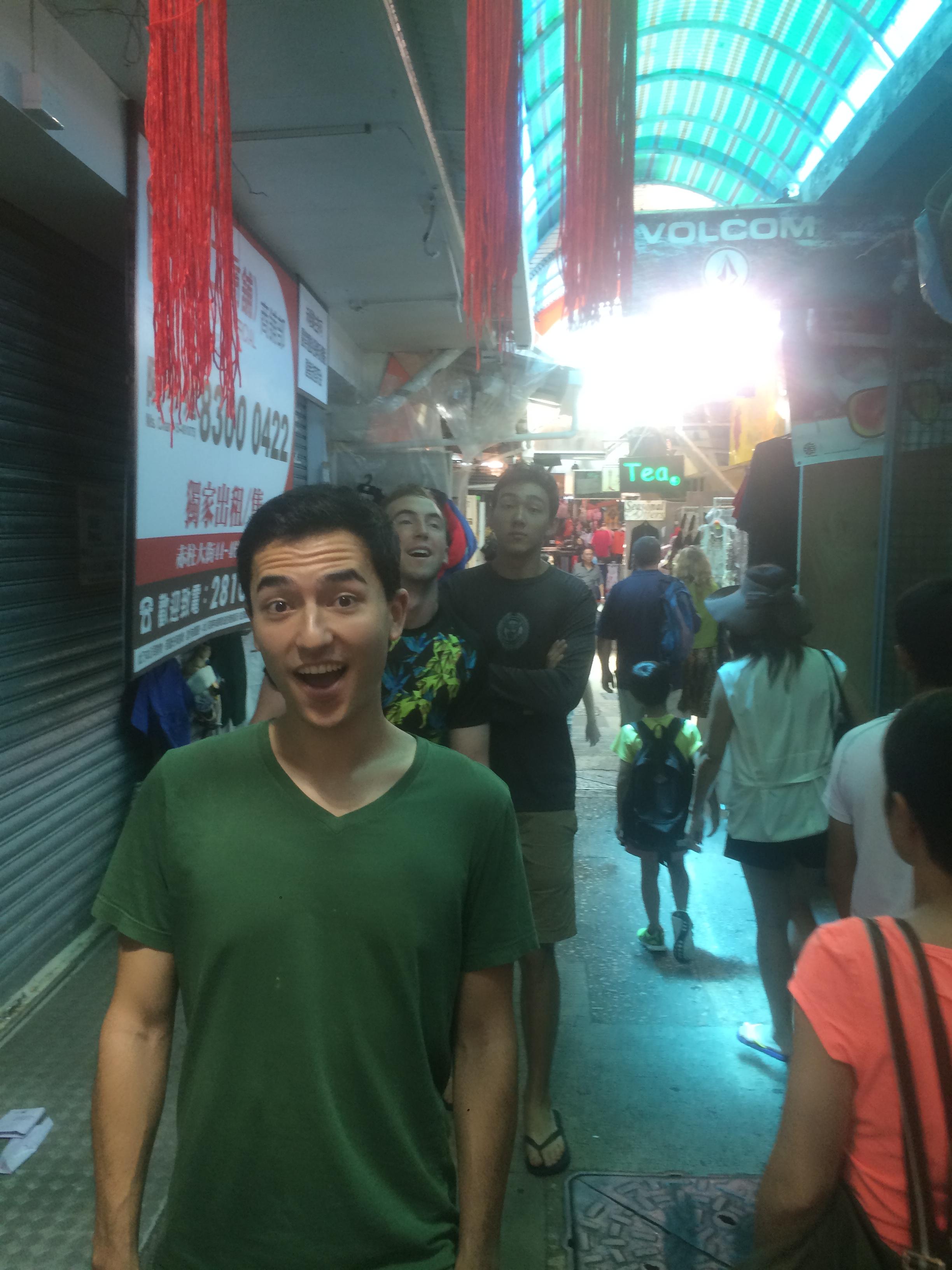 Walking through Stanley Market