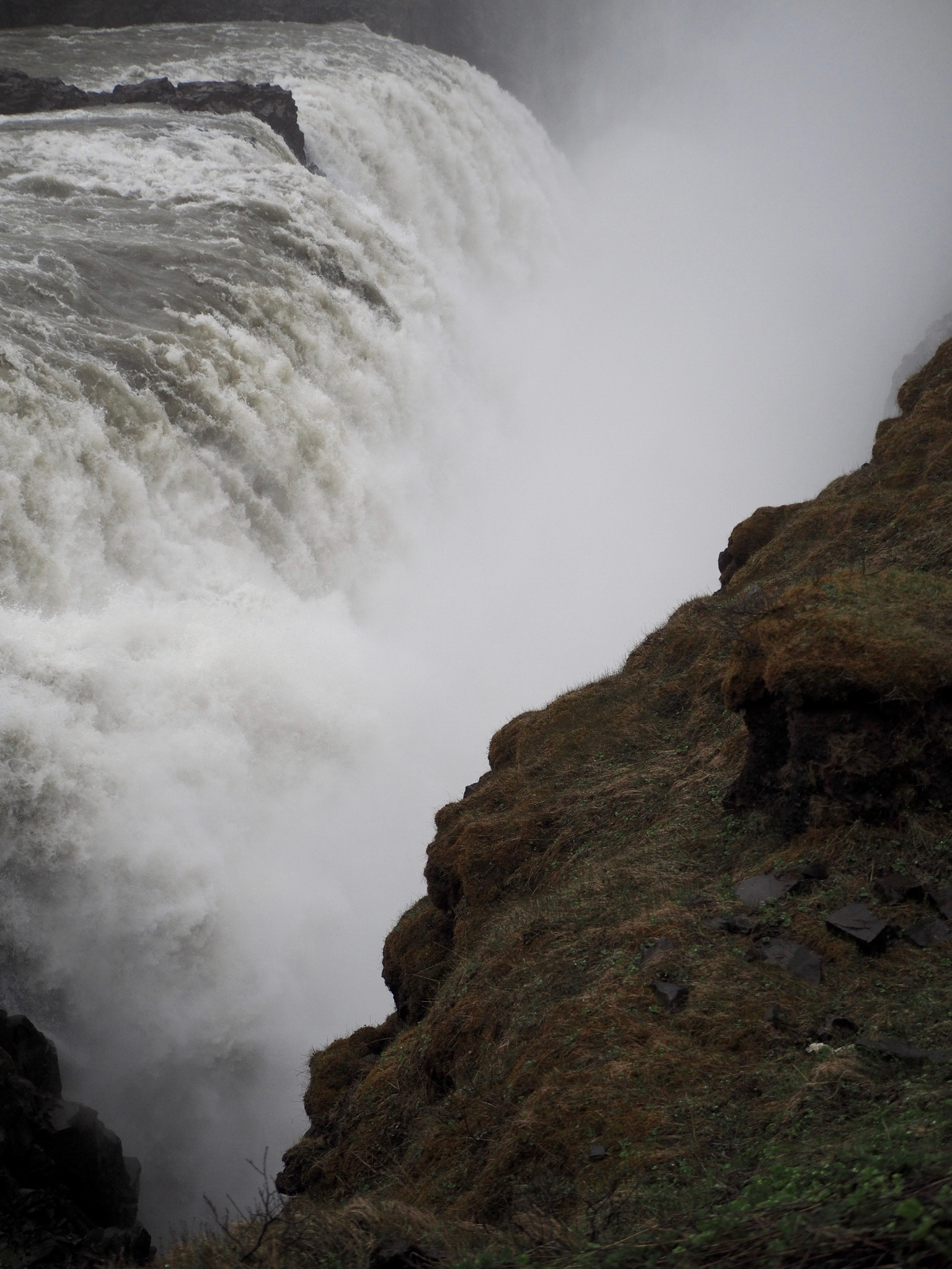 The thundering waterfall Gullfoss.  Photo by Eli Troen '20