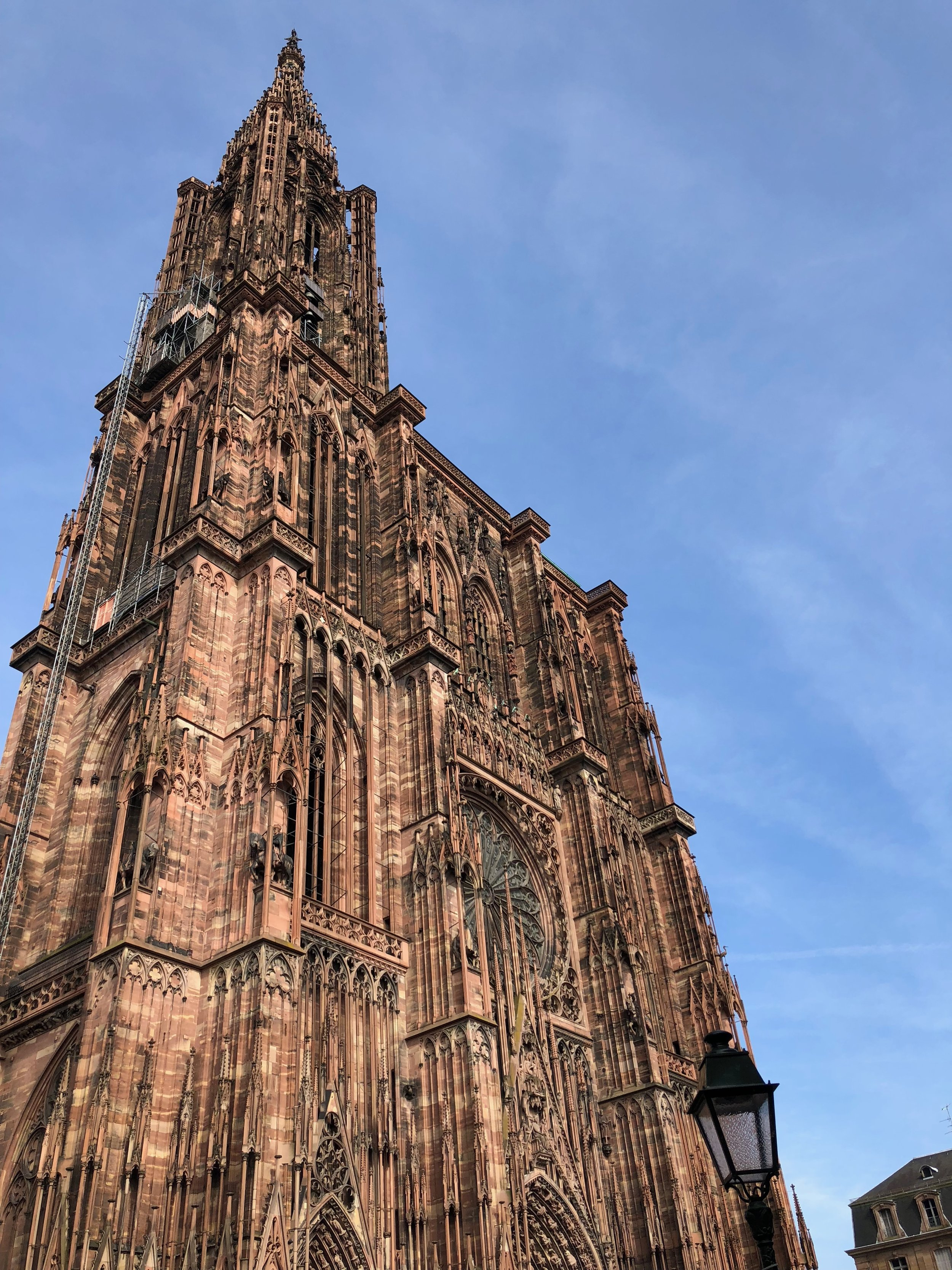 The towering Strasbourg Cathedral in the city center.  Photo by Eli Troen #250