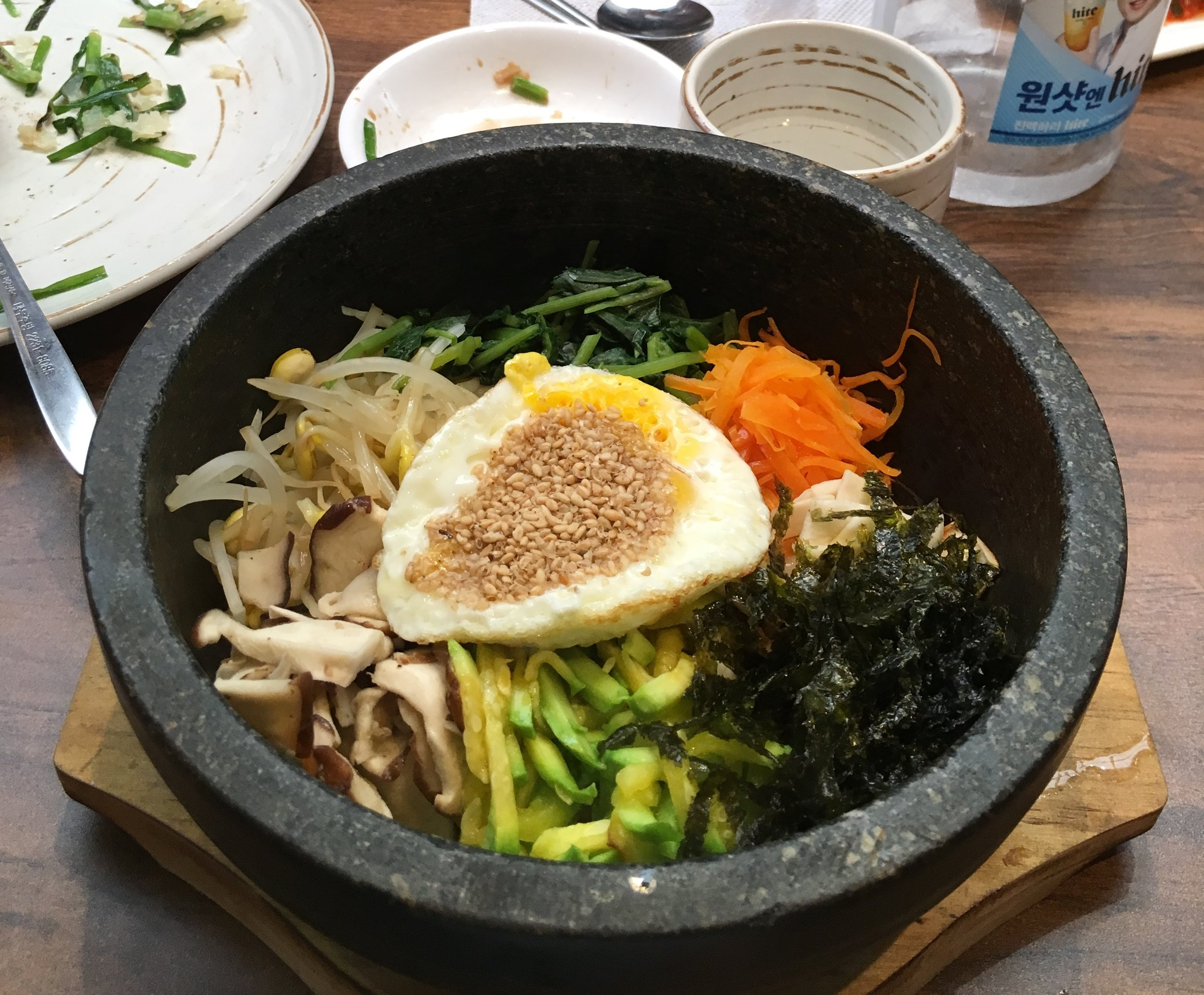A photo of a traditional bowl of Bibimbap.  Photo by Brian Rolincik #240