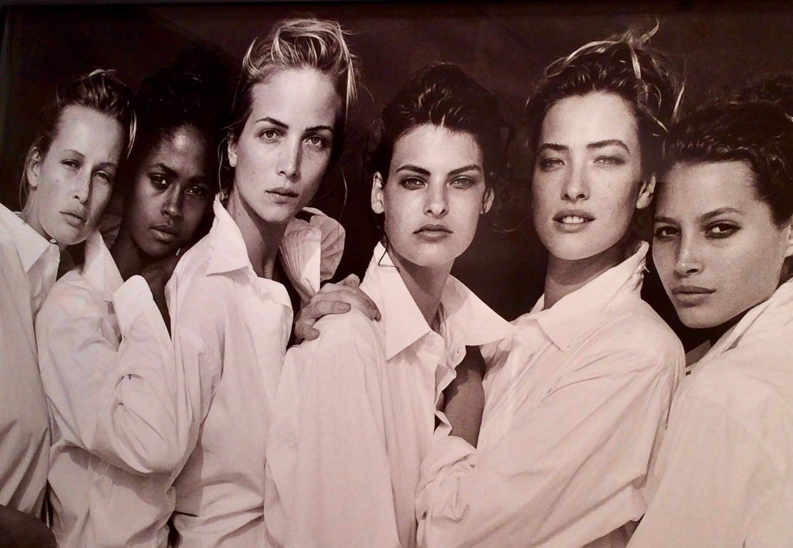 Birth of the supermodels: (from left) Estelle Lefébure, Karen Alexander, Rachel Williams, Linda Evangelista, Tatjana Patitz and Christy Turlington, Malibu, 1988. Photograph: Peter Lindbergh