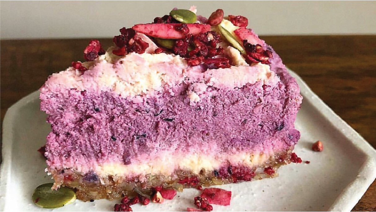 Recipe: Orange, Berry & Beet No-Bake Cheesecake