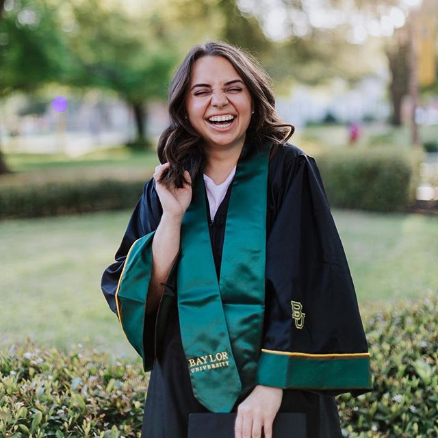 Laughing her way into graduation!! Whoop whoop! #baylorsenior