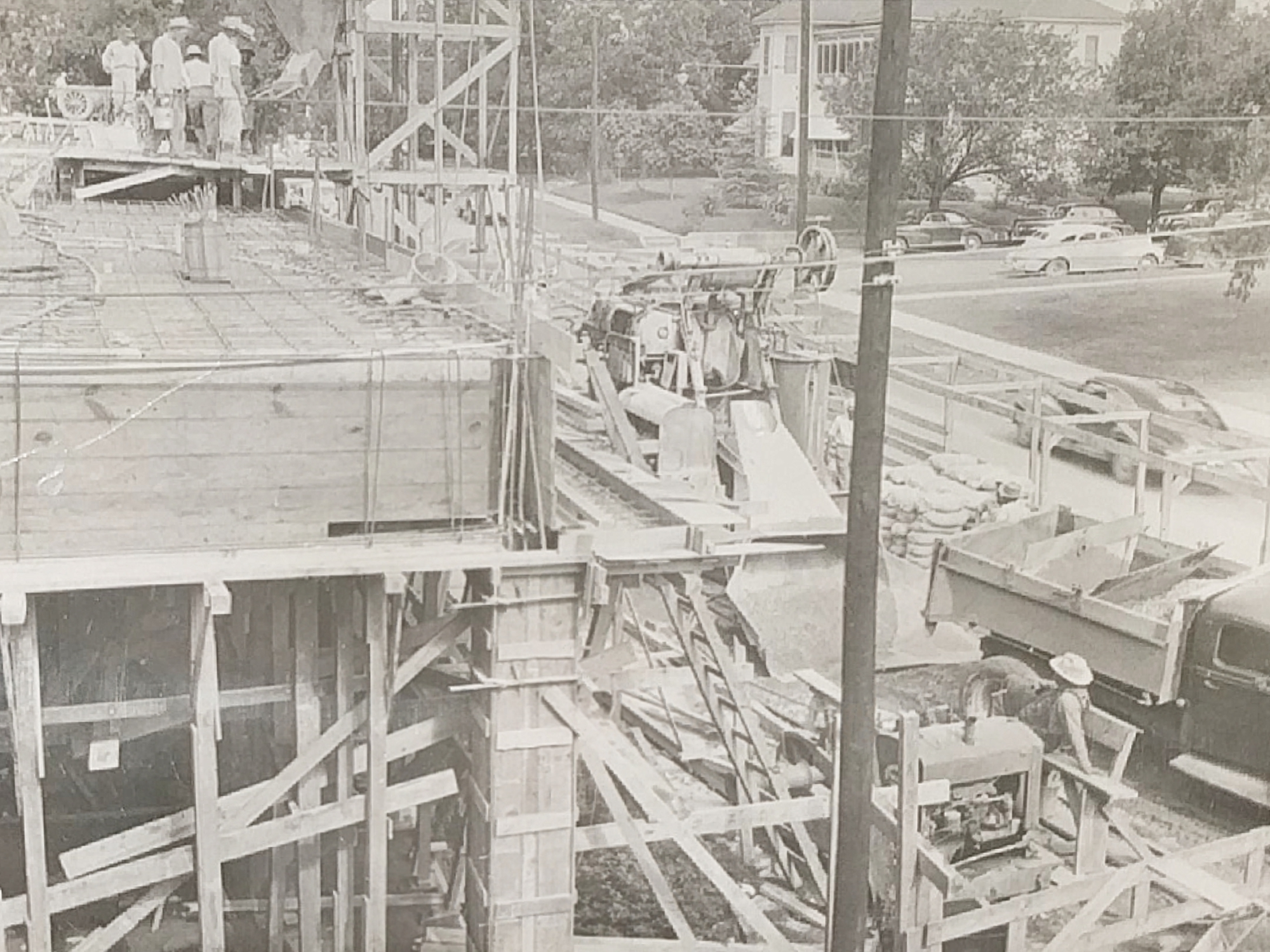 The student union under construction in 1948.                        Source | Courtesy of University Baptist Church.