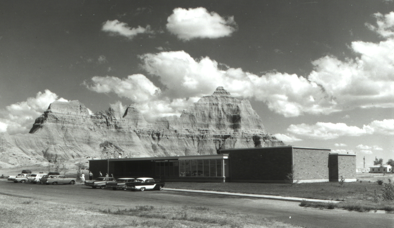 Ben Reifel Visitor Center. Designed by Cecil Doty and completed in 1959.