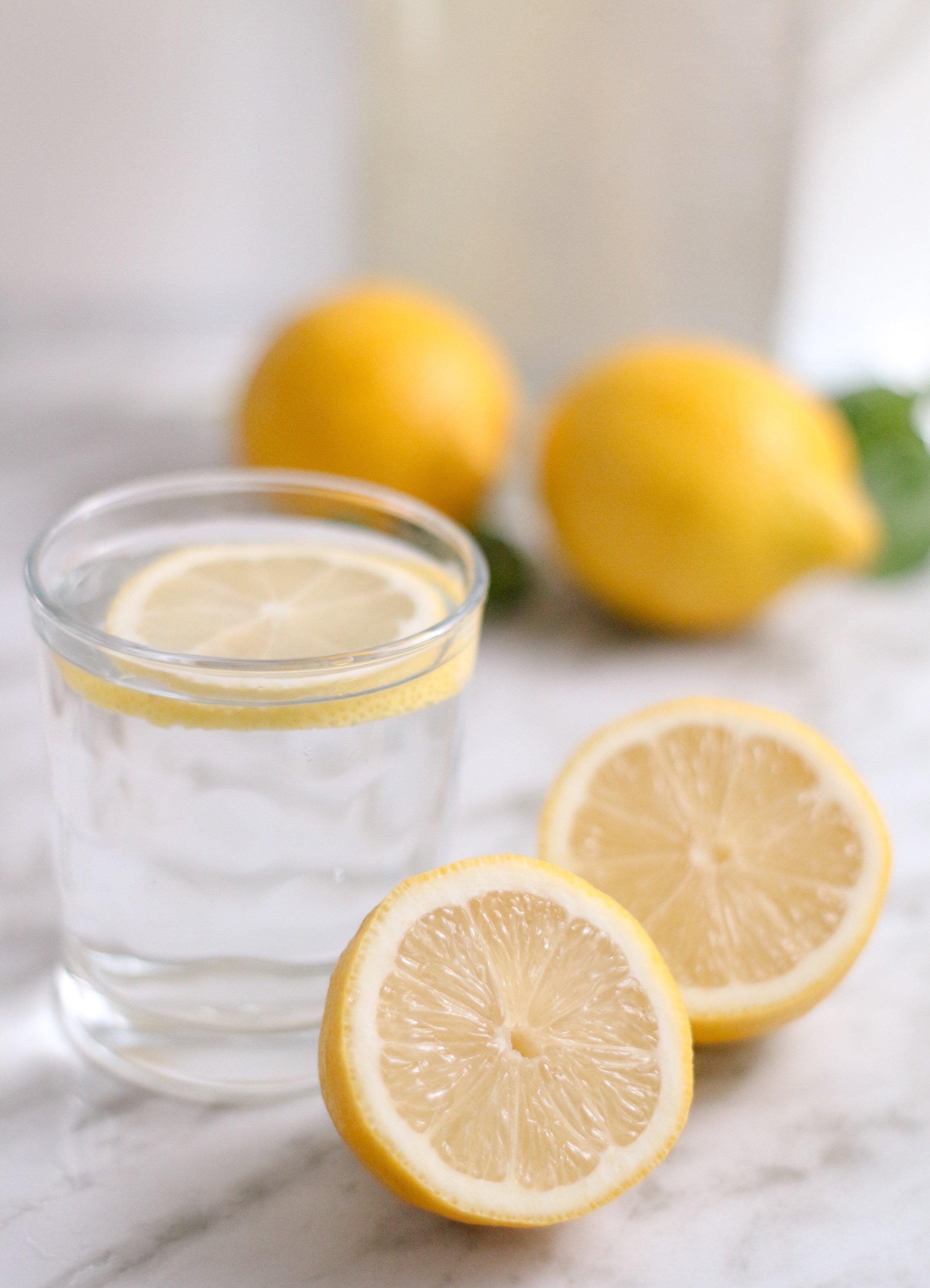 10. Lemon water - Helps boost collagen production