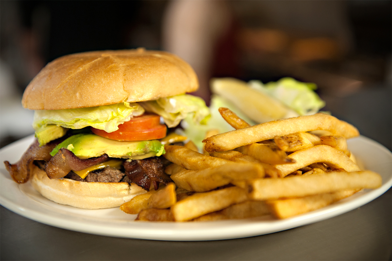 Burgers: Bacon Avocado Club Burger