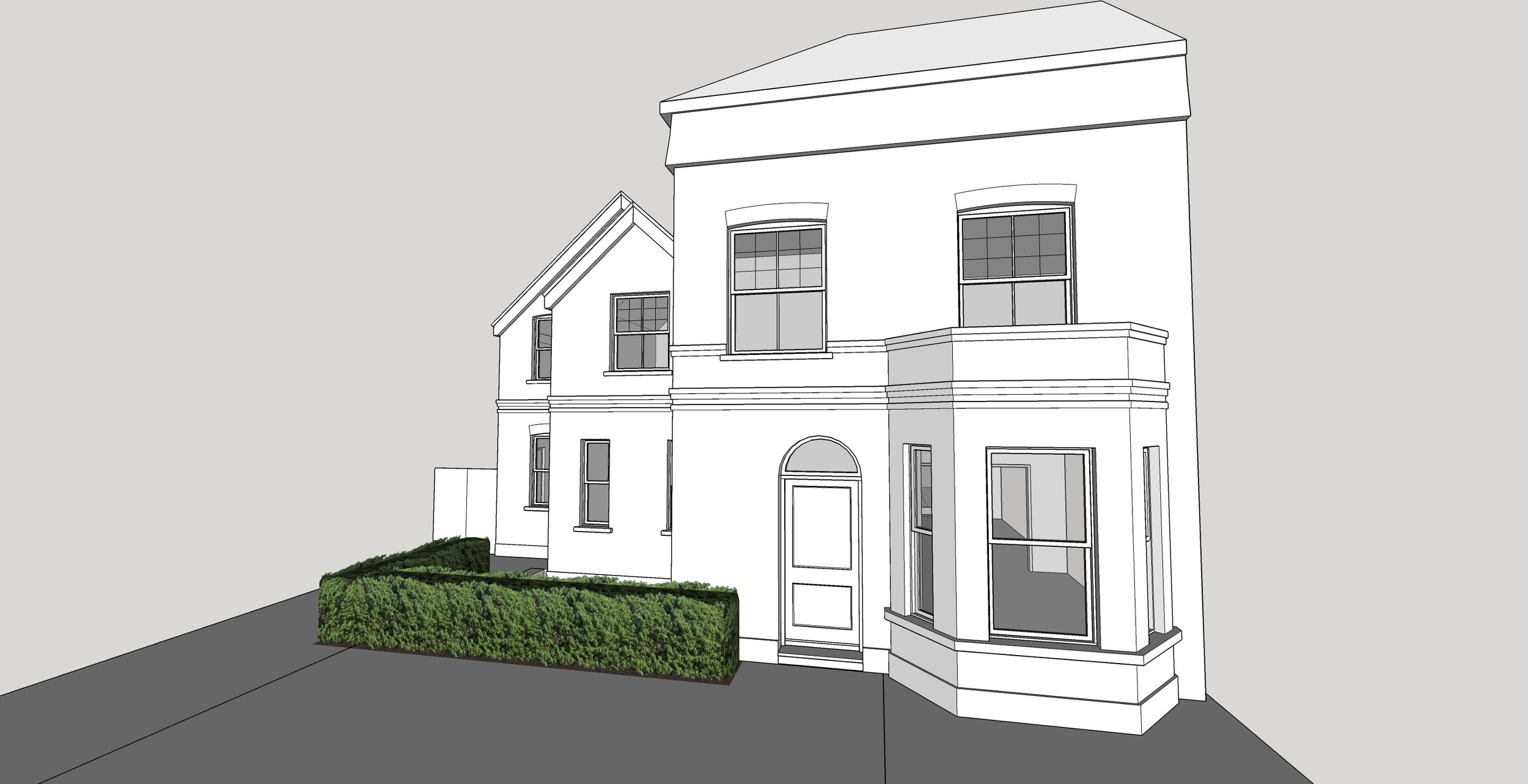 3D modelling exercise for a pre-planning application in Wandsworth