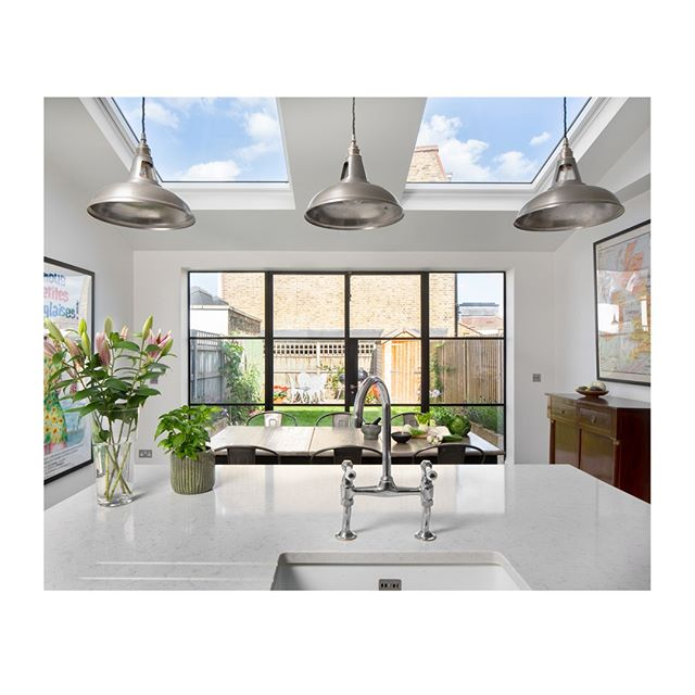 As you can see, we really do love when our clients choose to go with the Crittall style doors, which add such a beautiful piece of interest within the space. This kitchen is incredibly light and airy, with daylight bouncing off the beautiful quartz worktops- another Momo success story! ⠀⠀⠀⠀⠀⠀⠀⠀⠀ ⠀⠀⠀⠀⠀⠀⠀⠀⠀ #momo #architecture #crittall #London #design #interiordesign #art #photography #architecturephotography #interior #building #home #instagood #city #architect #archilovers  #arquitectura #homedecor #architecturelovers #love #construction #arquitetura #decor #designer #luxury #extension #property #inspiration #local #kitchen