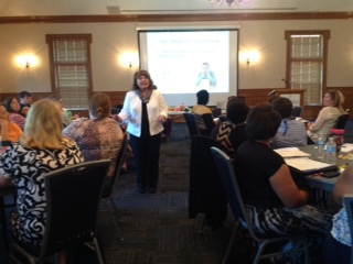 Dr. Laura Riffel shared many practical behavior interventions with   training participants