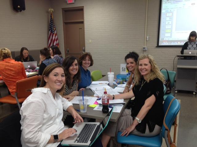 Trimble Elementary Leadership Team with principal Cindy Hutching