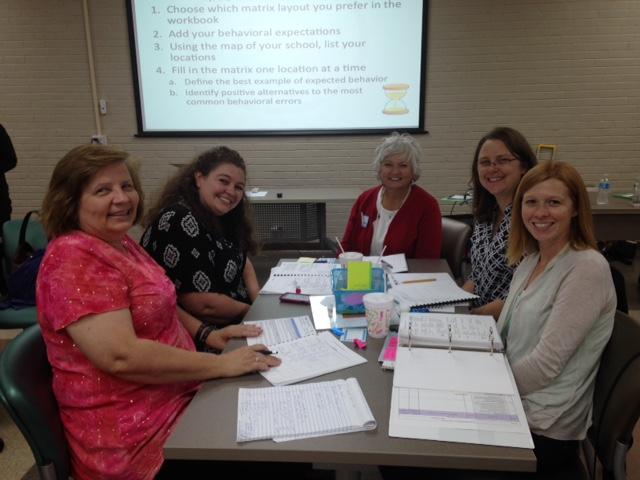 Holice Powell Elementary Leadership Team with principal Alice Seratt