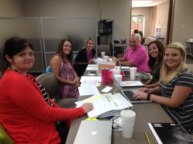 Fifth Consolidated Elementary Leadership Team with principal Greg Cherry