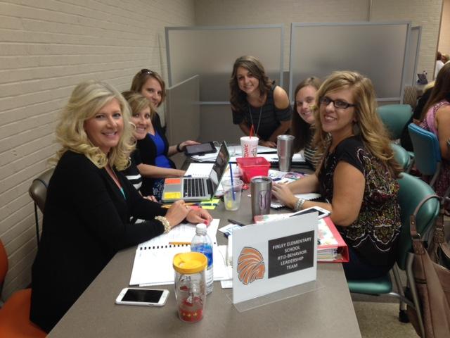 Finley Elementary Leadership Team with principal Carolyn Tyler
