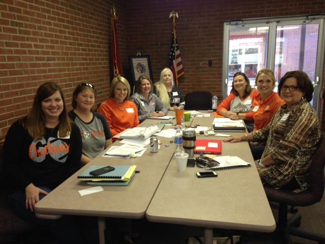 Northview Middle School RTI2-‐B Leadership Team with Asst. Principal Lori Evans