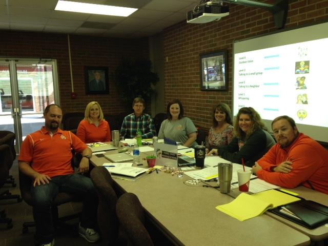 Three Oaks Middle School RTI2-‐B Leadership Team with Principal Matt Stafford