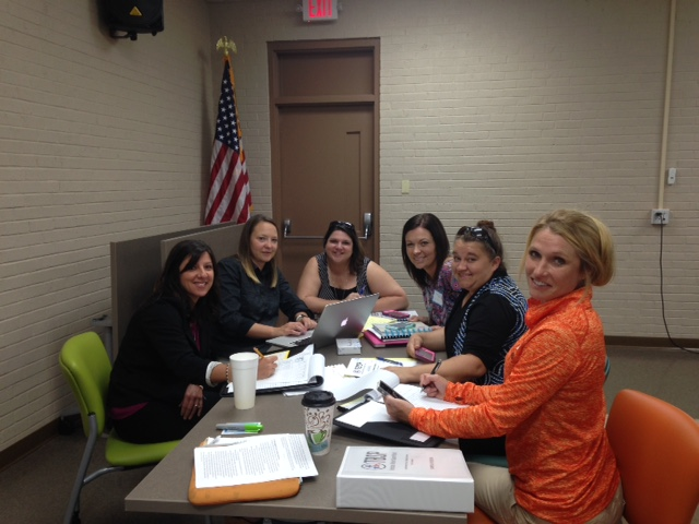 Dyer County High School Leadership Team with Instructional Coach Angie Stafford