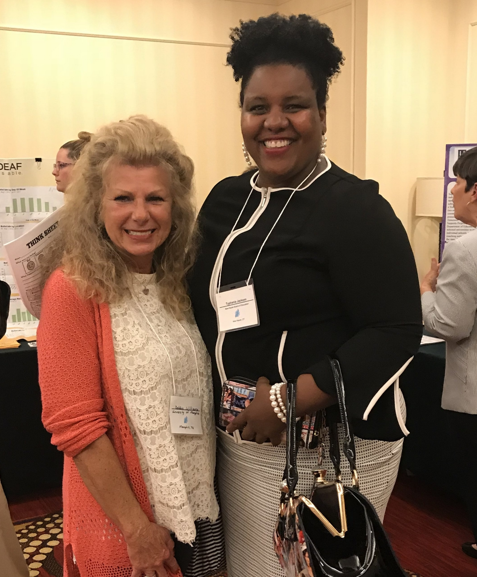 Debbie Williams pictured with one of her favorite conference speakers, Typhanie Jackson of New Haven Public Schools