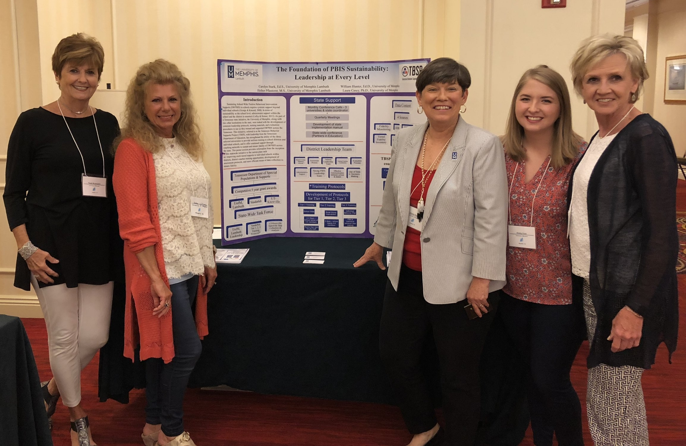 Team Members Paula Brownyard, Debbie Randolph, Carolyn Stark, Shelby Cook, and Sandra Harper pictured with our poster.