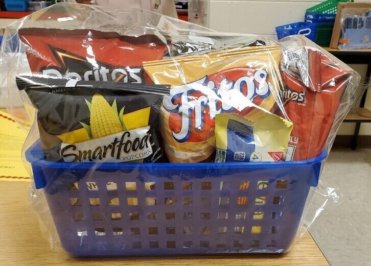 Gift basket for March Teacher of the Month