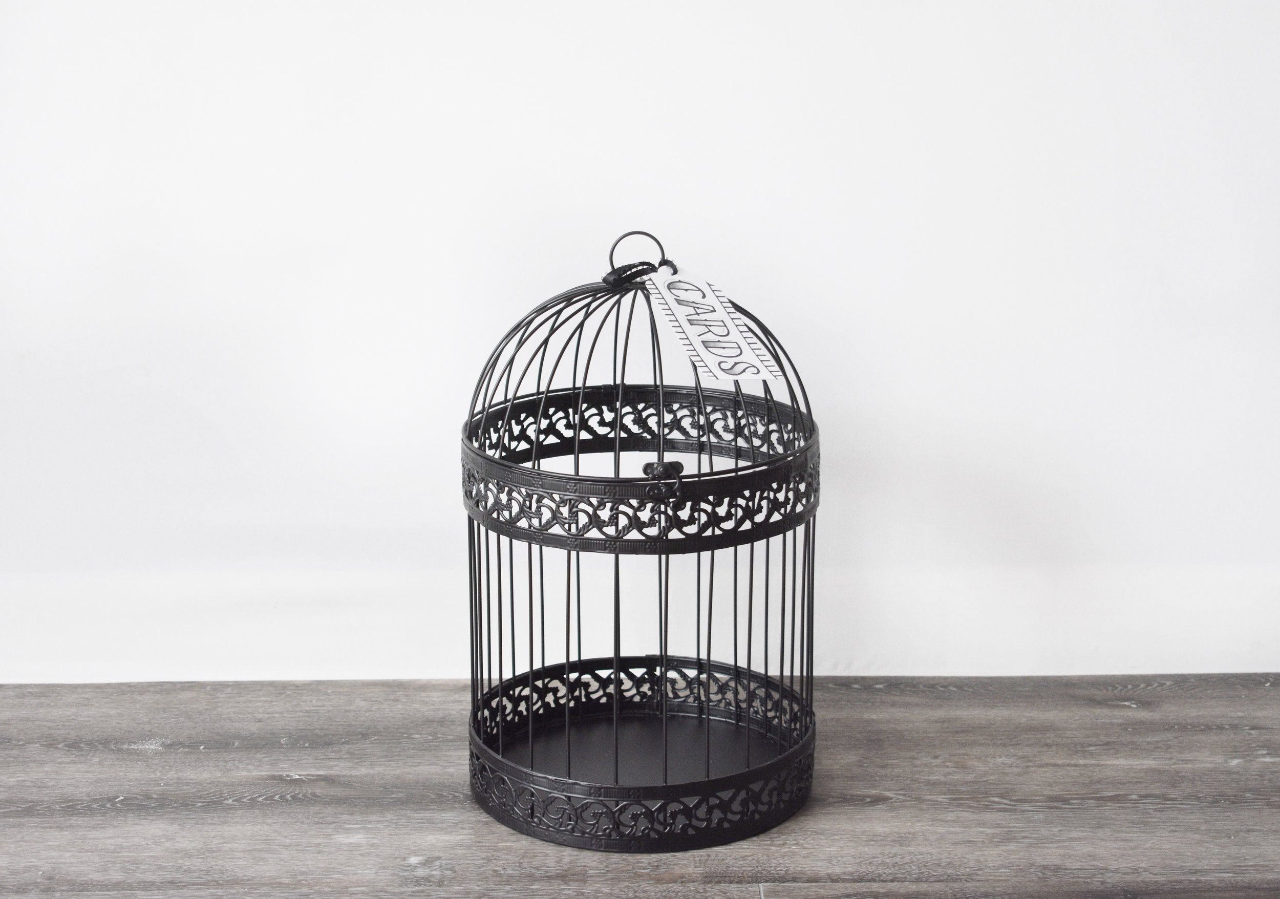 Black Classic Birdcage/Card Box