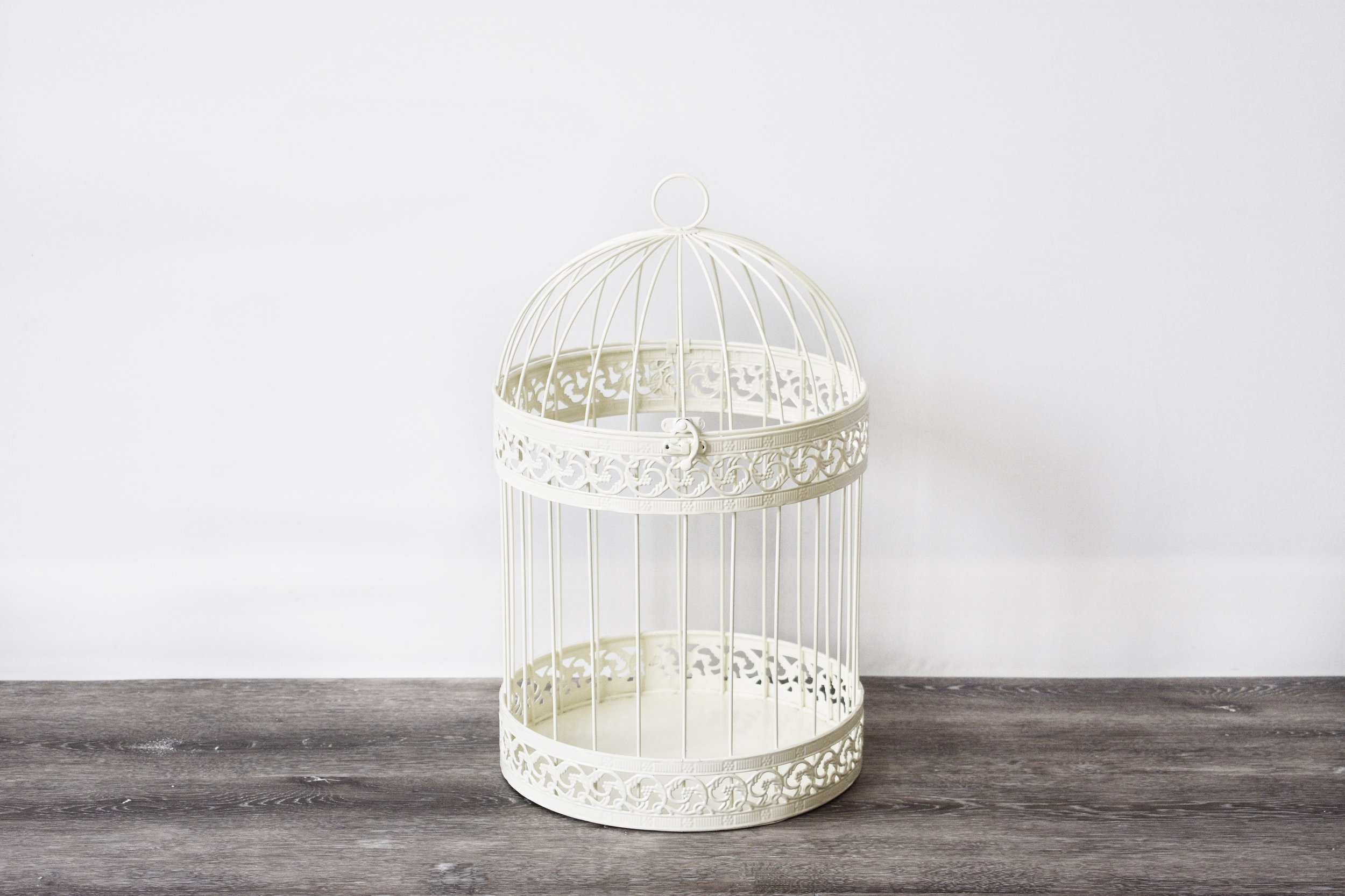 White Classic Birdcage/Card Box