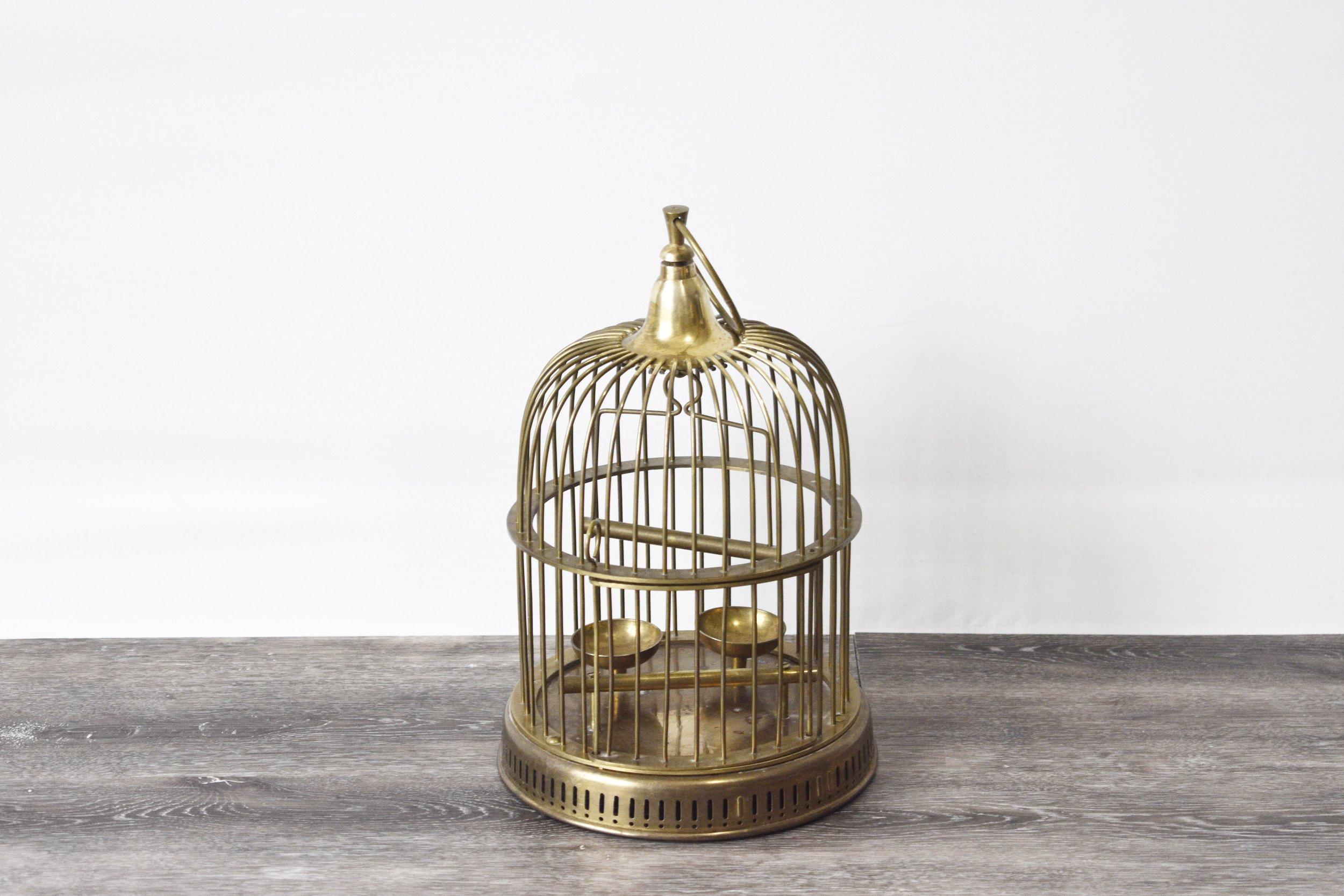 Small Brass Decorative Cage