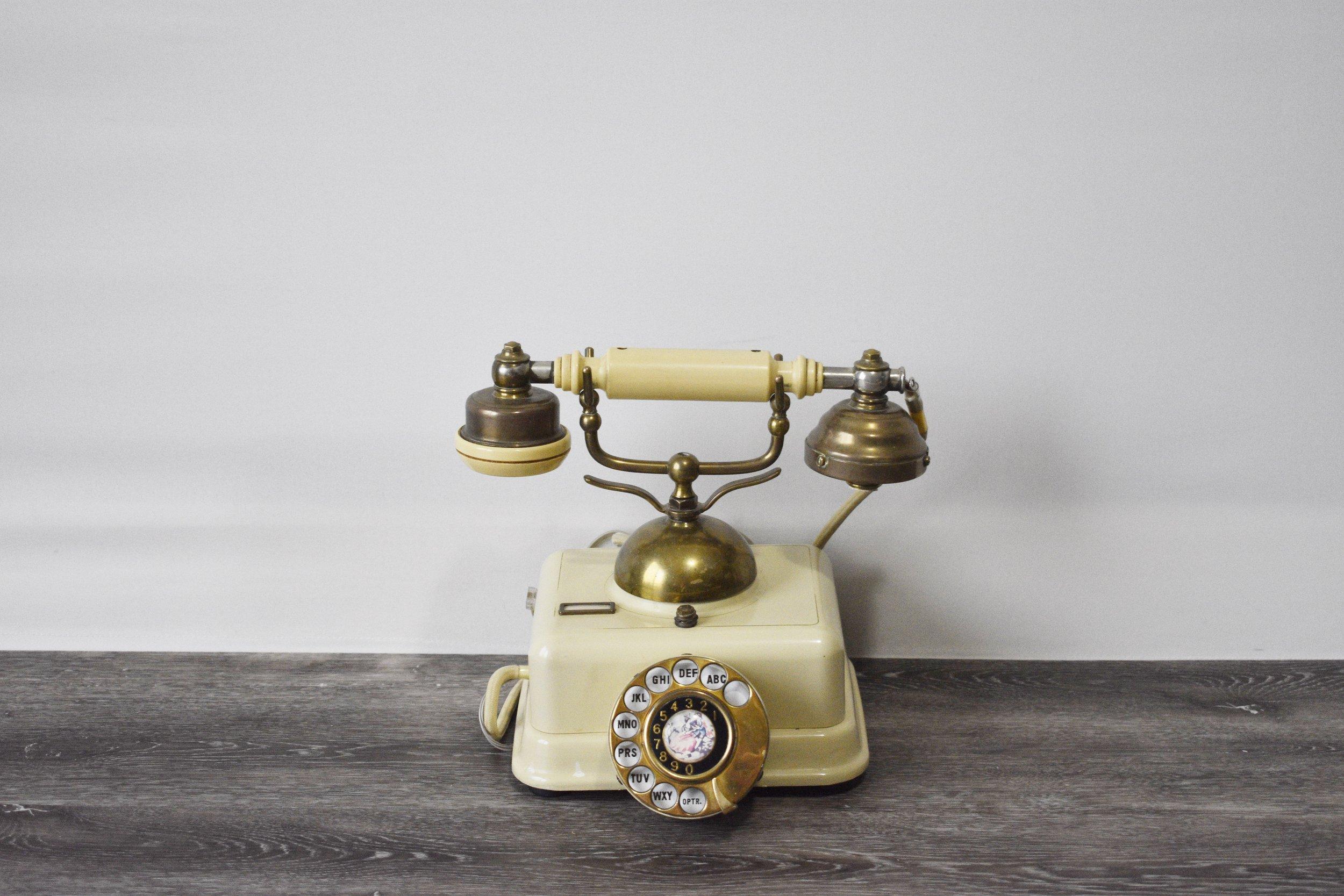 Cream Vintage Telephone