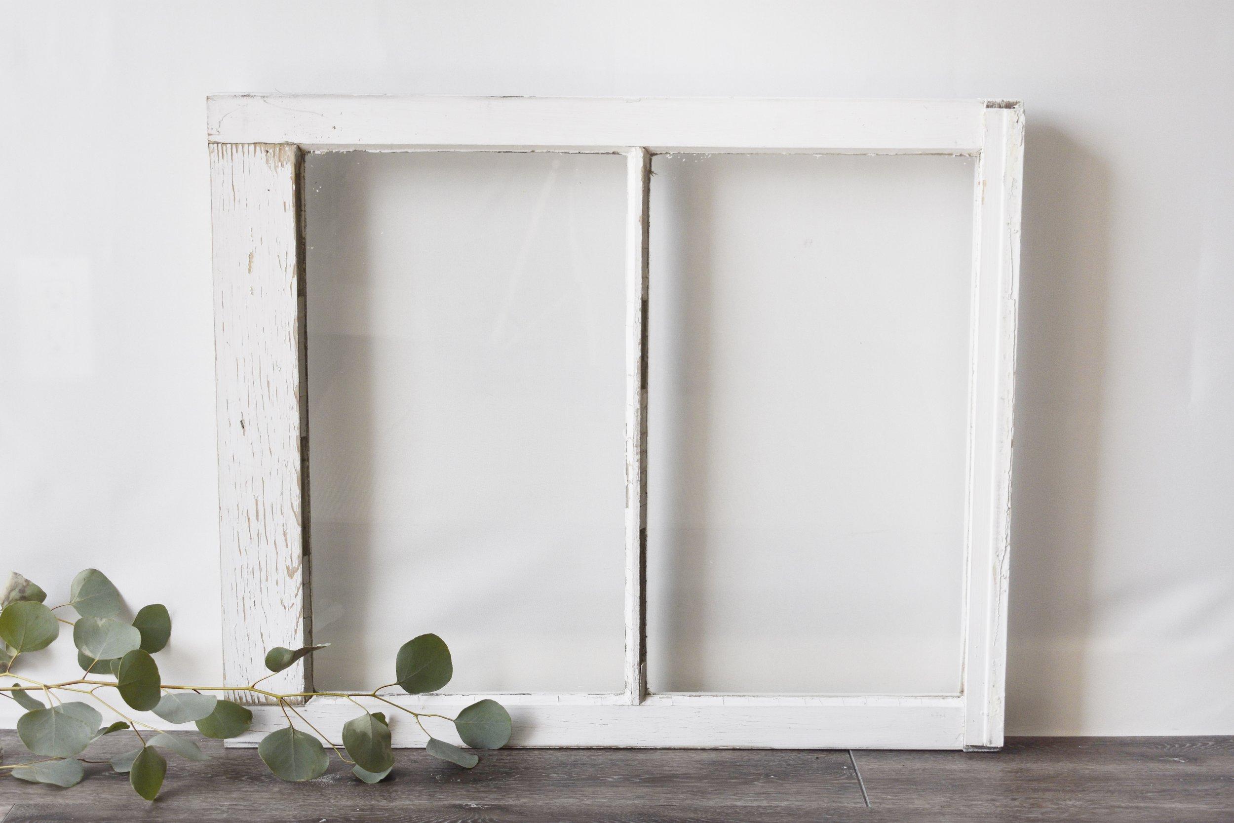 Distressed White Windows