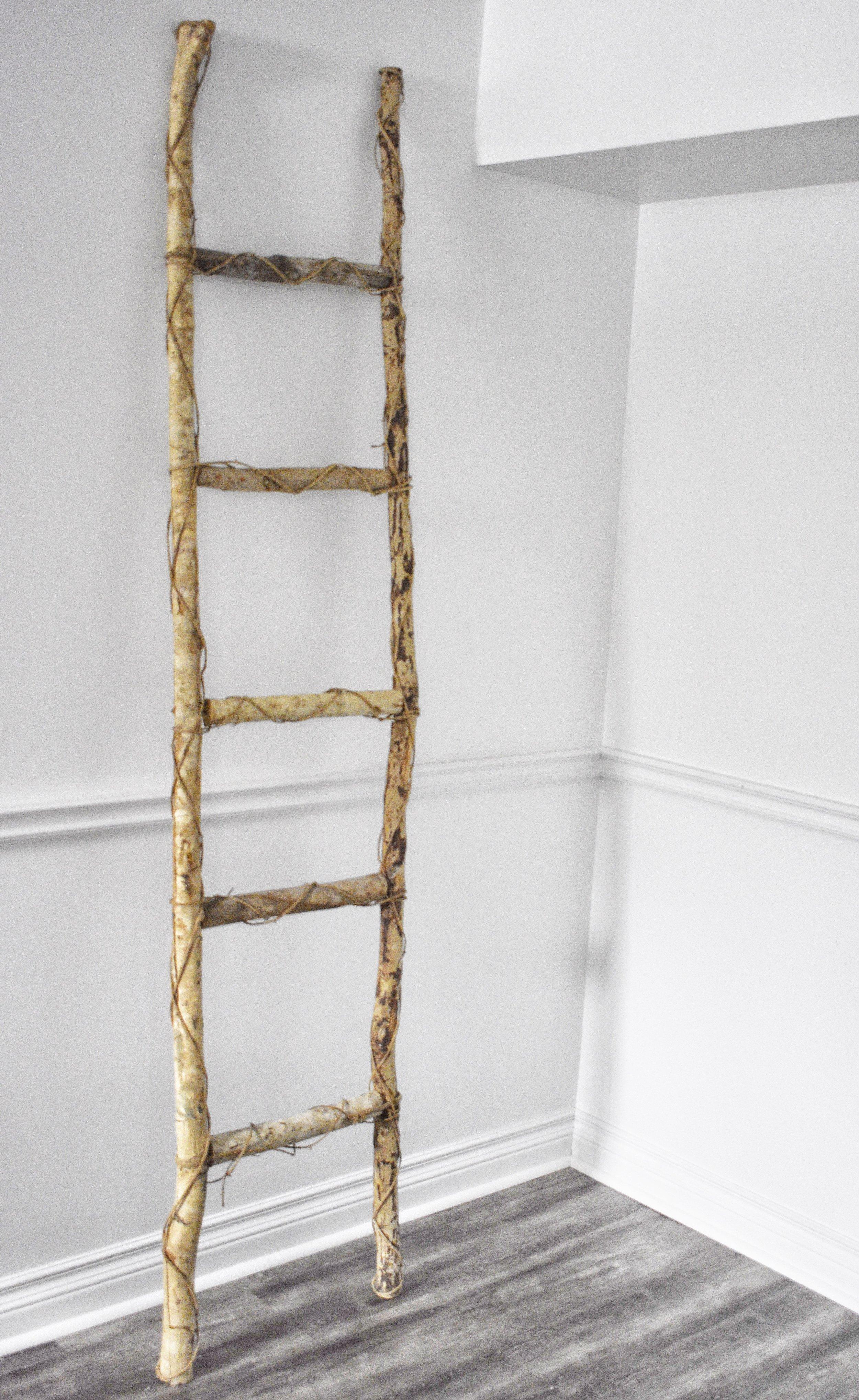Rustic Birch Ladder
