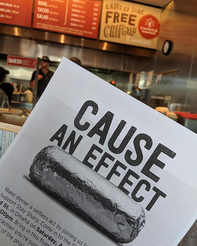 Thank you SO MUCH for your support during our Stay Sharp Chipotle fundraiser! We appreciate you all!