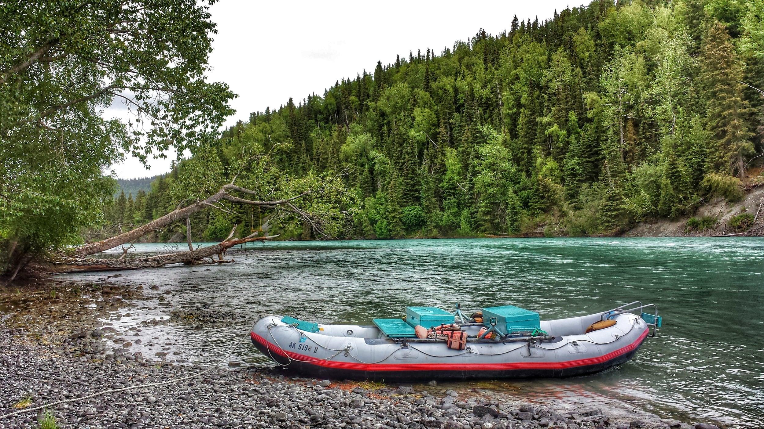 Shores of the Russian River at Cooper Landing, Alaska