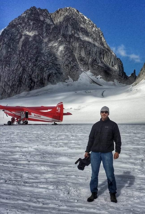 Ice landing on Pika Glacier, Denali National Park