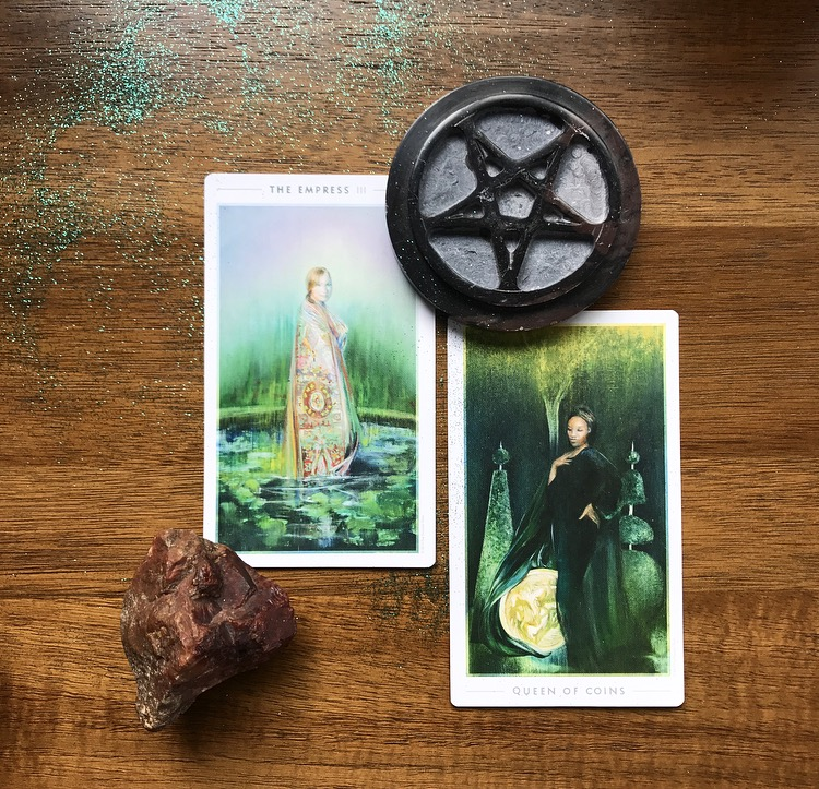 The Empress and The Queen of Coins from The Fountain Tarot
