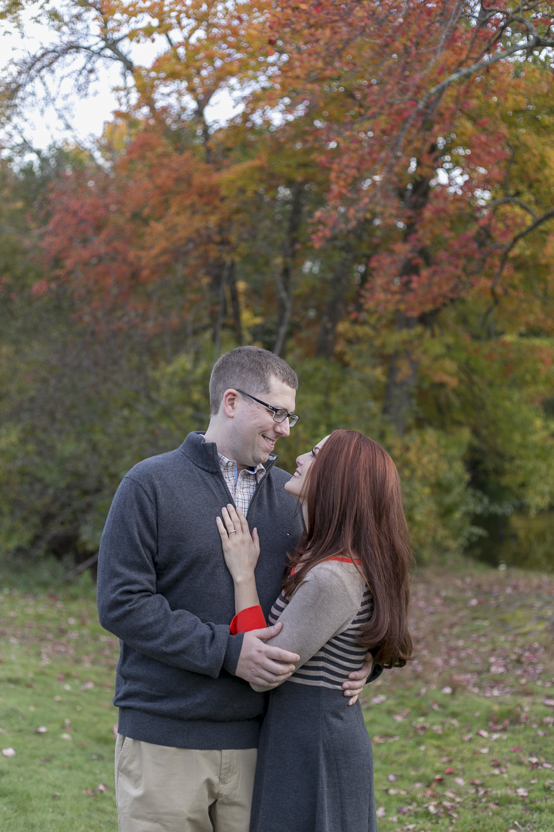 wellesley college fall engagement photo boston photographer