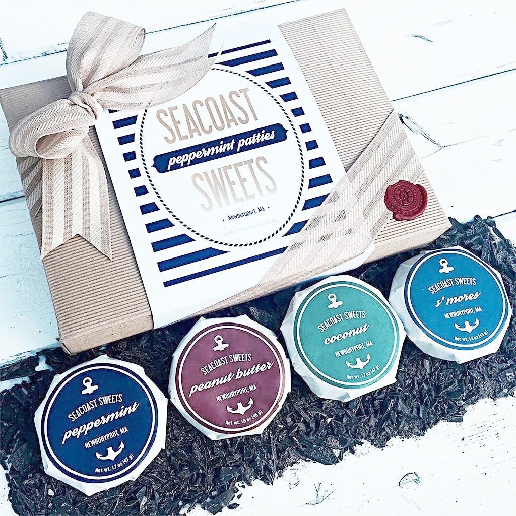 Seacoast Sweets Chocolate Pattes. They're based out of Newburyport, MA and they have 4 flavors, peppermint, peanut butter, coconut, and s'mores. -
