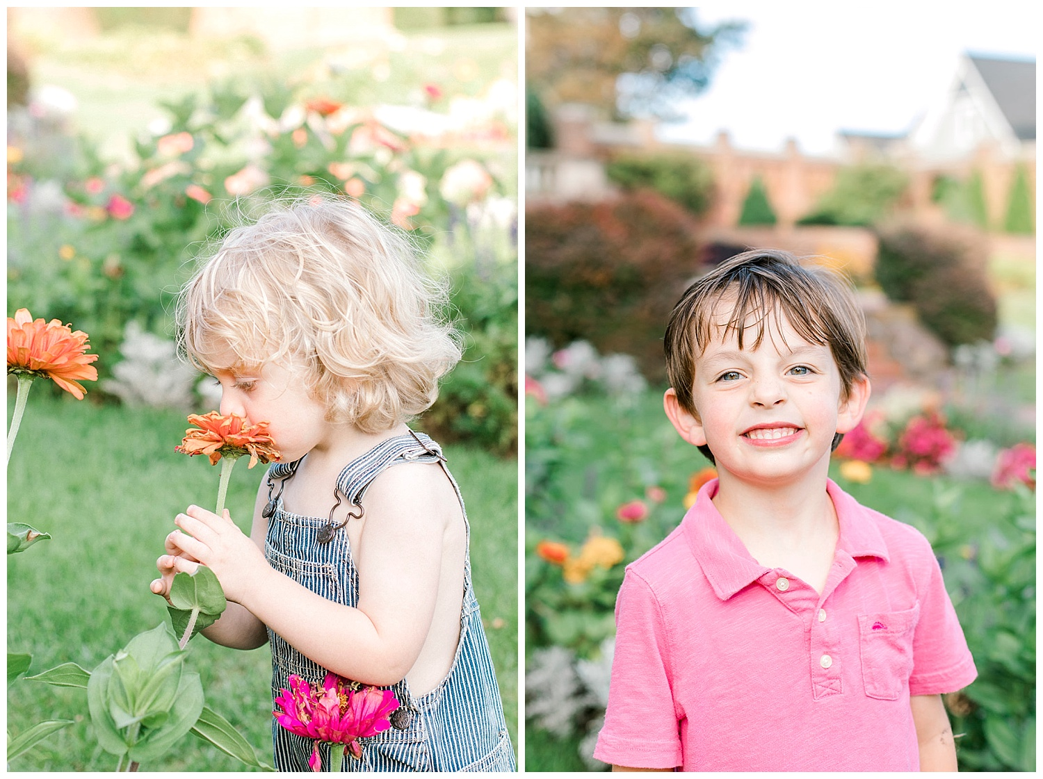 lynch park beverly family photo session. kids and flowers