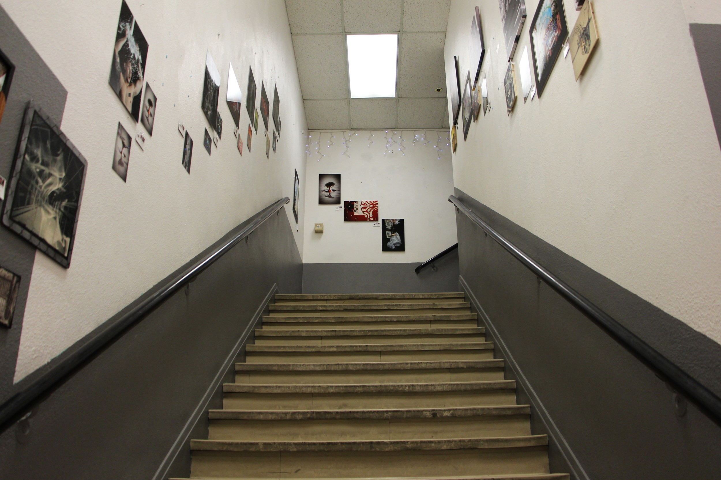 The anything is possible stairs at Emergency Arts