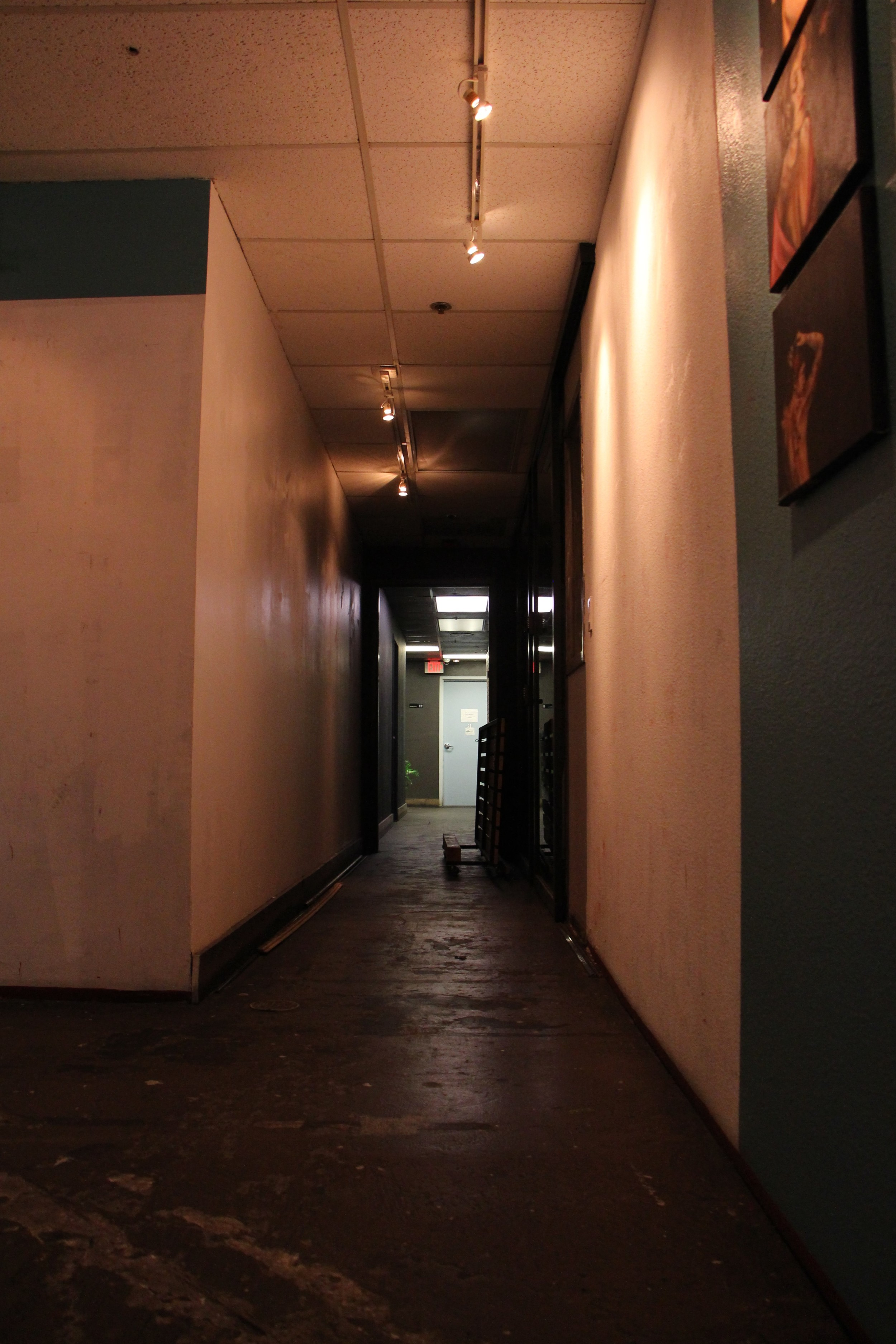 The dark hallway.  A space to create or perform in.