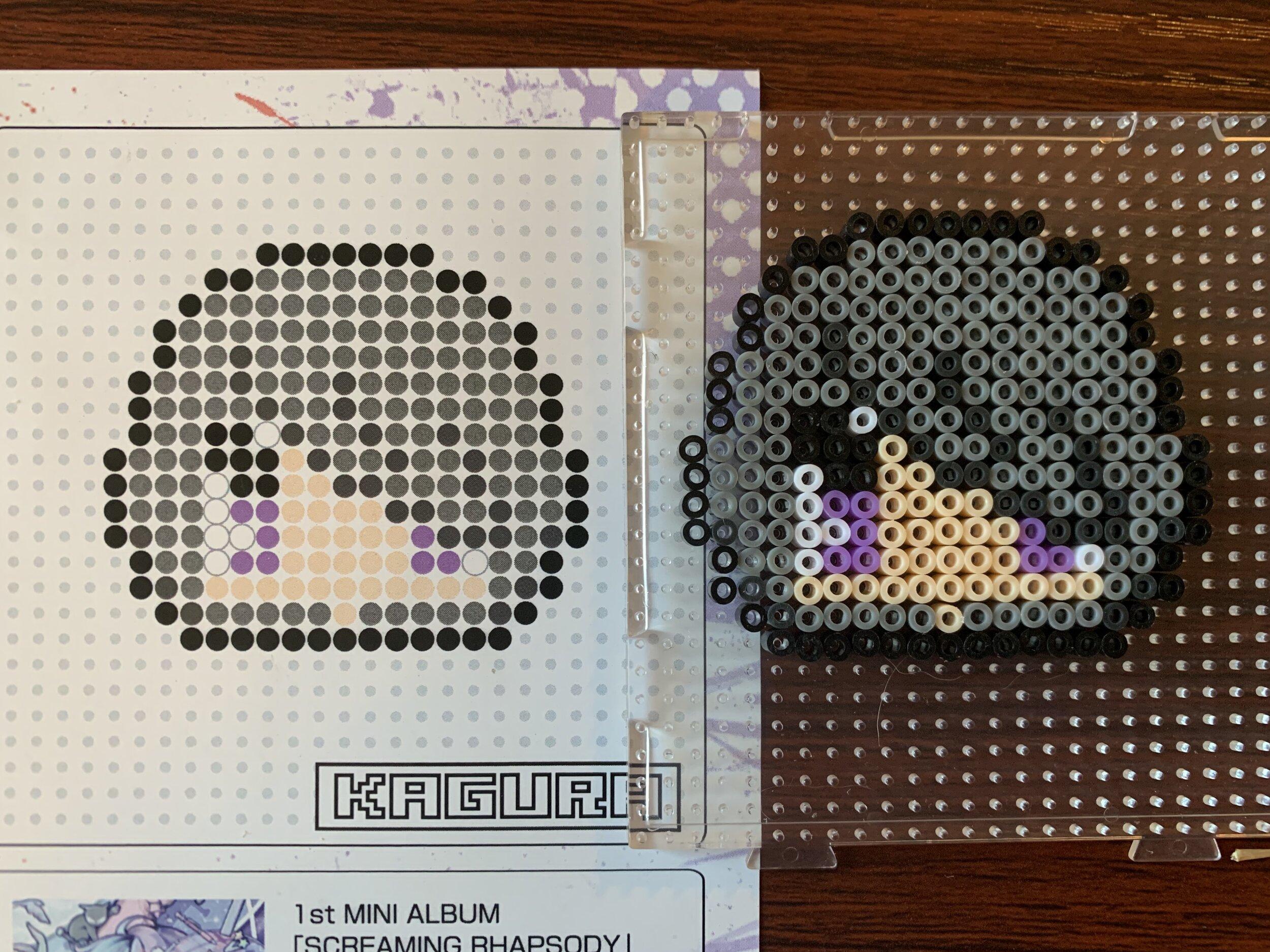 Kagura beads applied to pin board