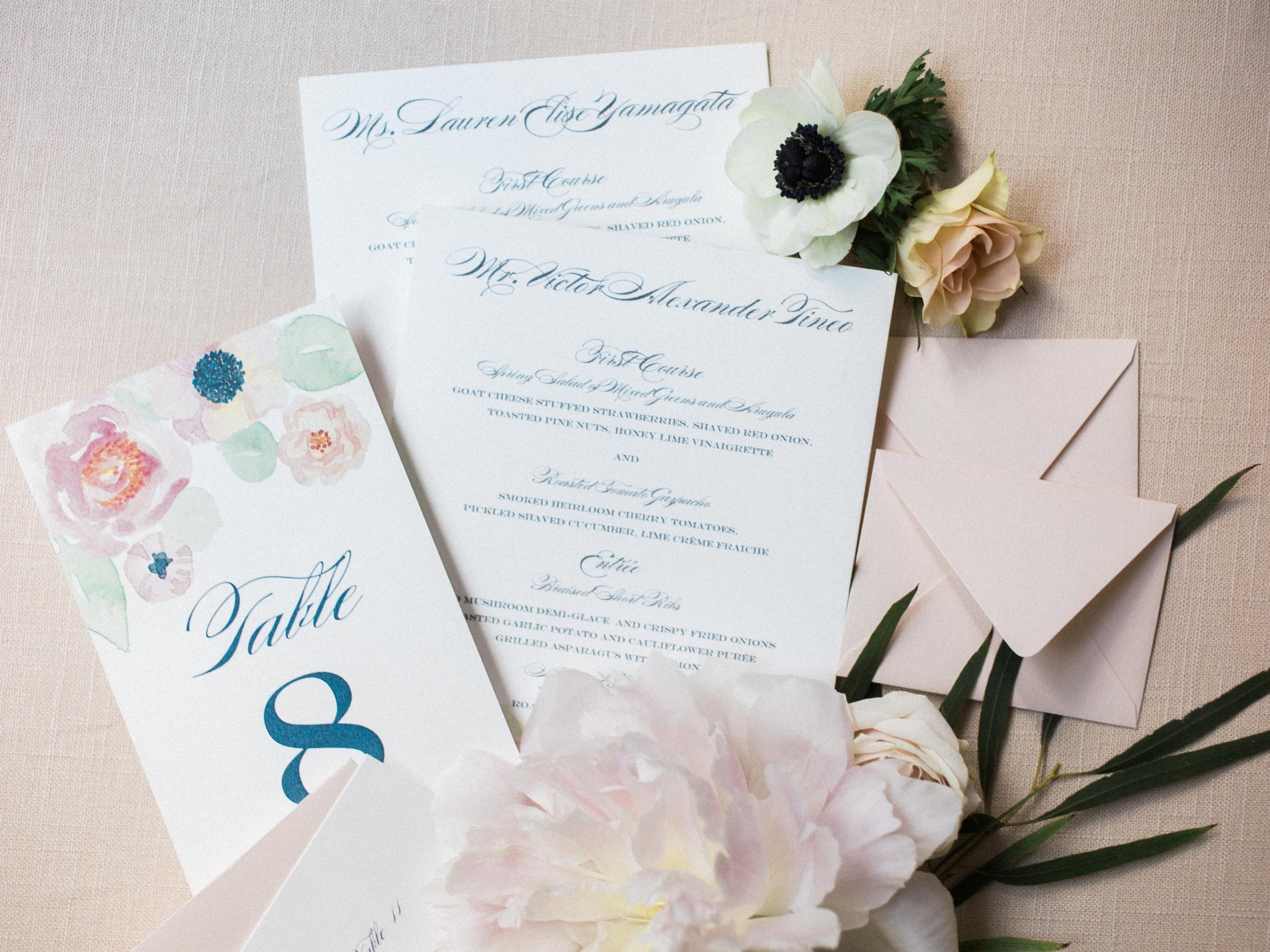 Watercolor Bouquet Suite Day-of Details
