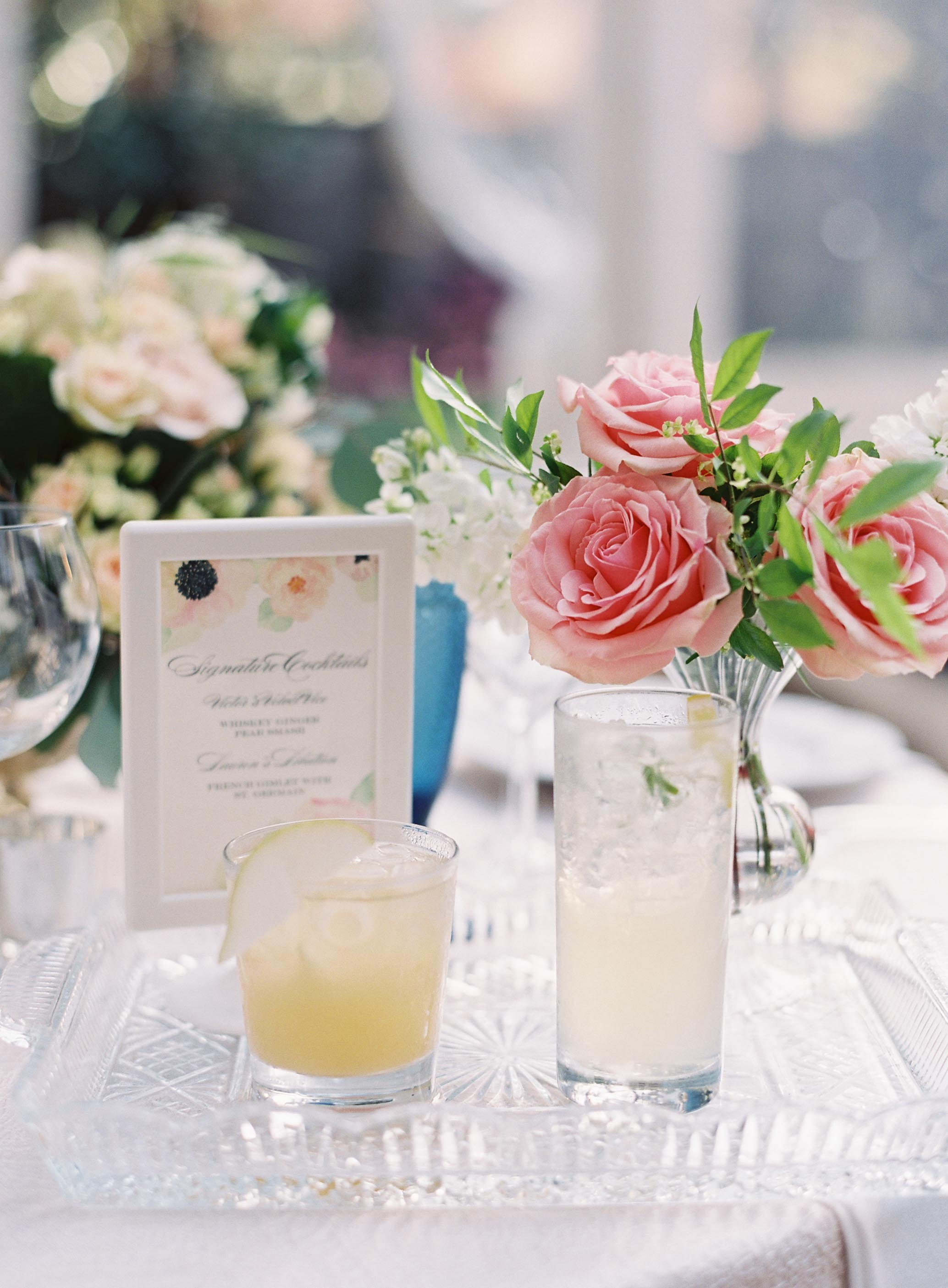 Watercolor Bouquet Suite Signature Cocktails