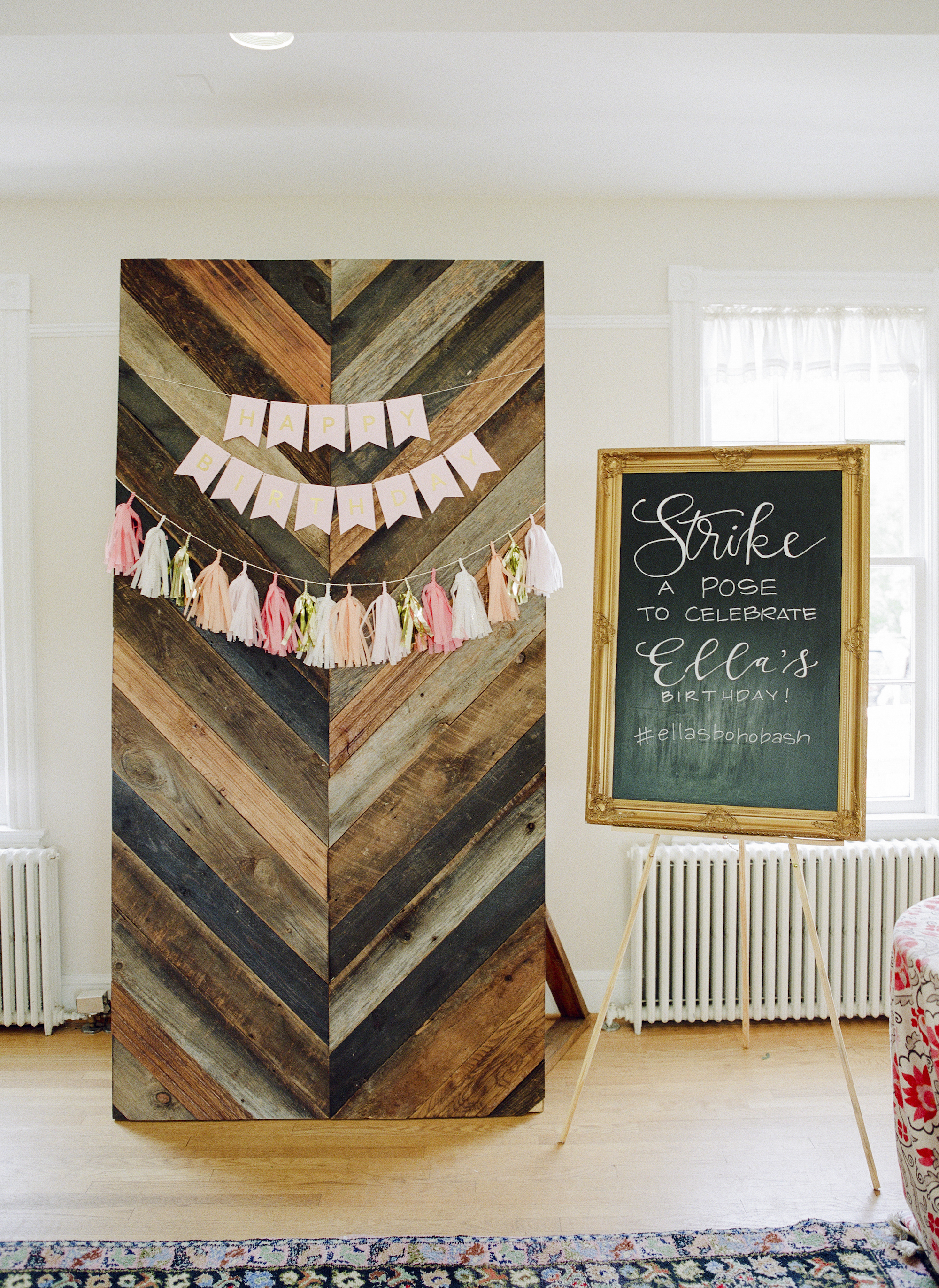 Boho First Birthday Party Selfie Station