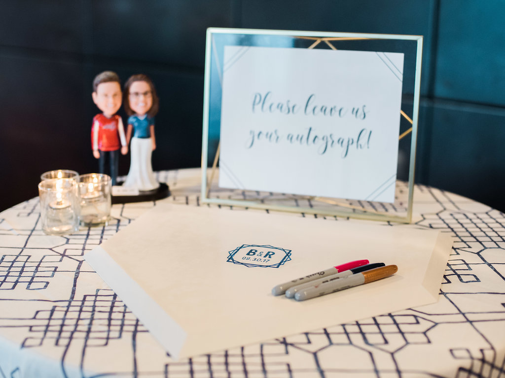 Geometric Navy Suite Guest Book