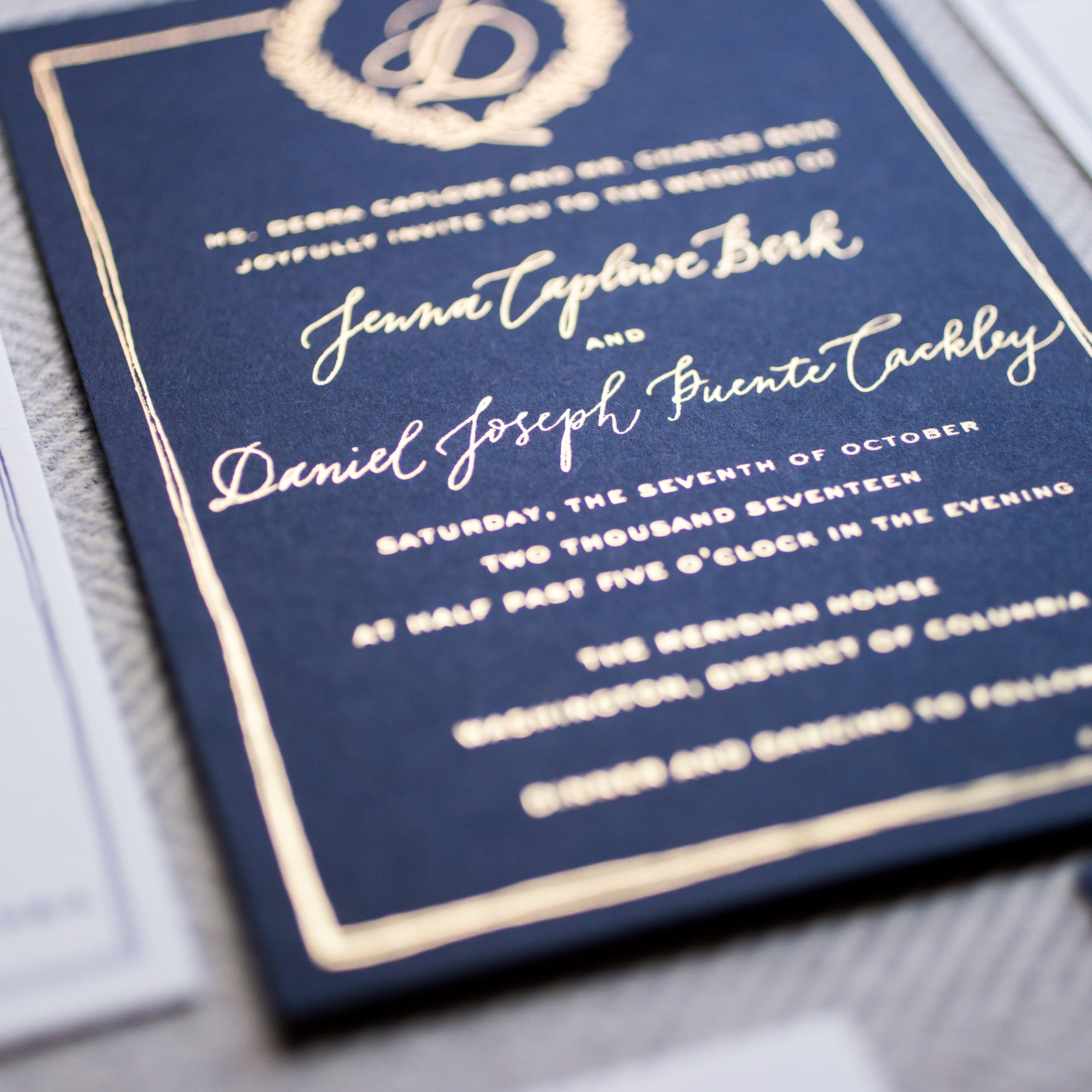 Modern Luxury Weddings DC    Jenna and Danny's Secret Garden Invitations, Day-of Signage and more!