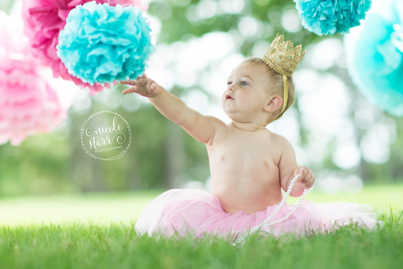 pink and teal cake smash baby birthday session boston_0005