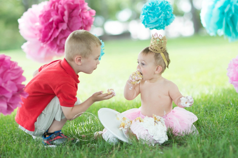 pink and teal cake smash baby birthday session boston_0015