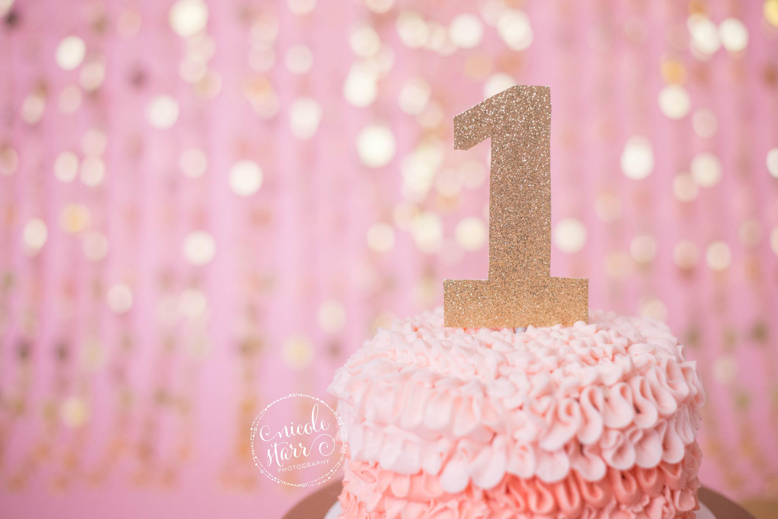 WM pink gold birthday cake