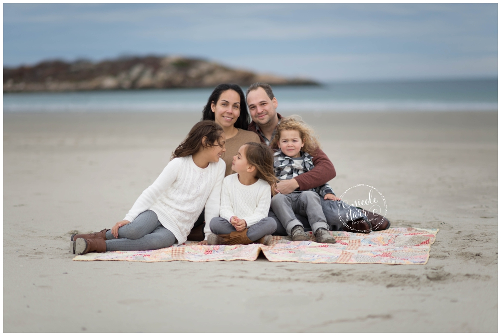 fall family photo session at good harbor beach gloucester